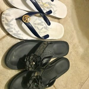 Mk and Coach Flip Flops